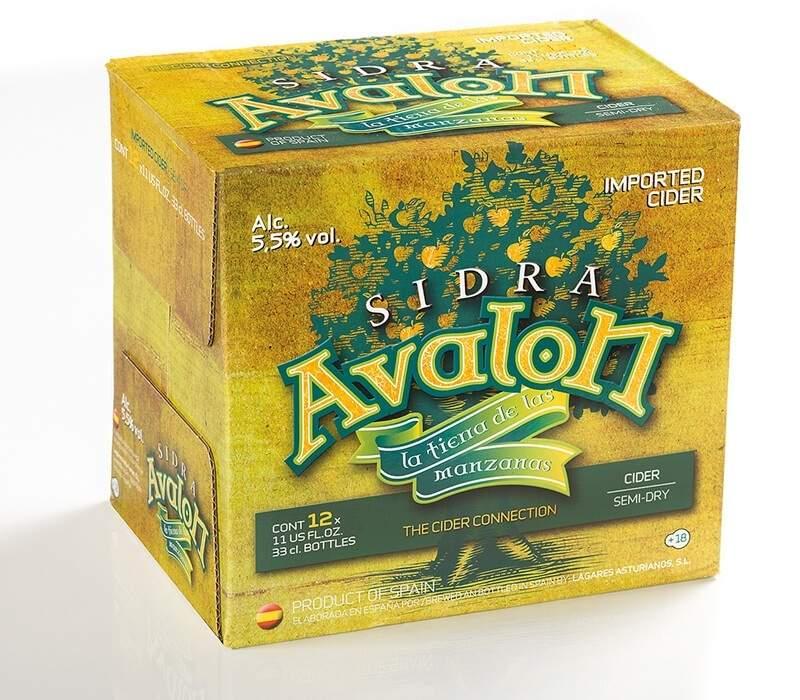 Diseño de caja sidra Avalon - trabanco