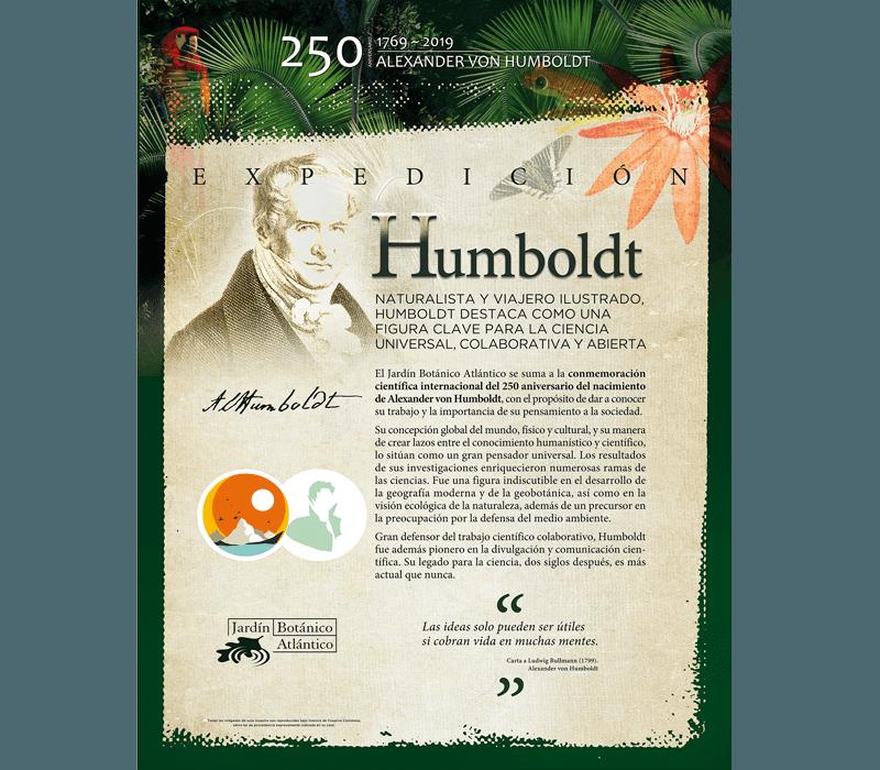 Cartel Exposición Humboldt - Jadín Botánico de Gijón