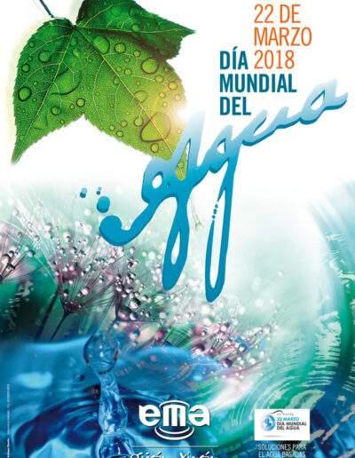 Diseño cartelería Día Muncial Agua - EMA GIJÓN